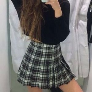 Plaid American Apparel Tennis Skirt